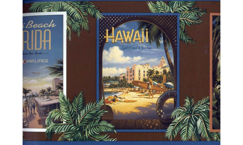 Hawaii Secenary TG2296 Wallpaper Border