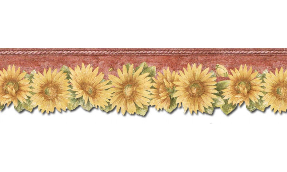 Sunflowers TH29022DB Wallpaper Border
