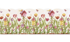 Birds House KS11689DB Wallpaper Border
