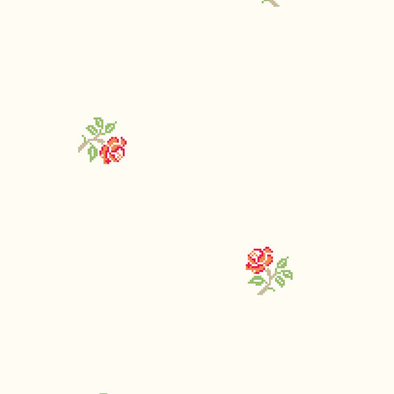 Early Roses Red Green 46903 Wallpaper