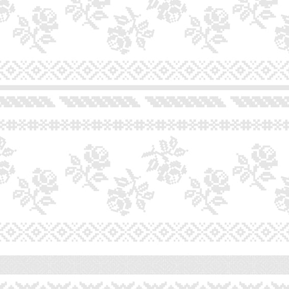 Bright Floral Stripes Grey 46910 Wallpaper