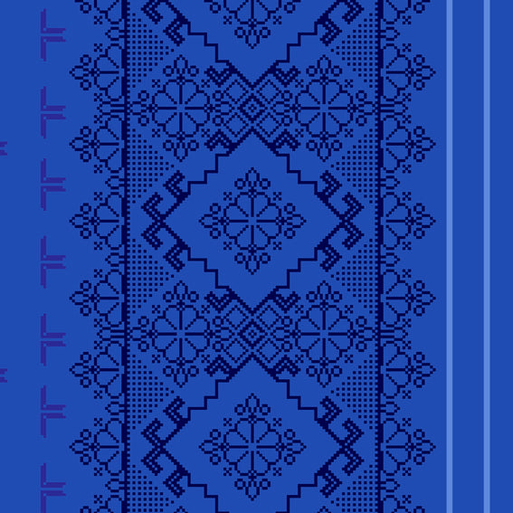 Homely Geometric Floral Blue 46920 Wallpaper