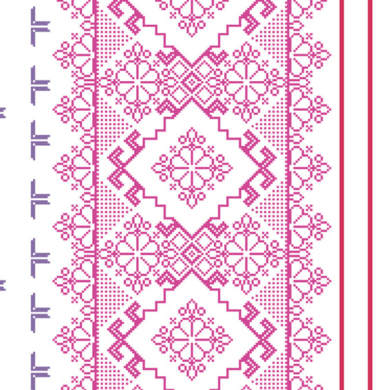 Homely Geometric Floral Purple White 46924 Wallpaper