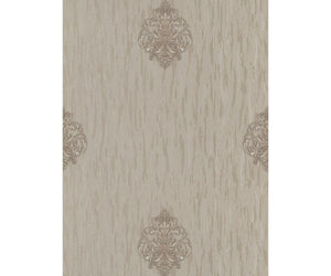 Ornated Floral Damask Motifs Taupe 5783-27 Wallpaper