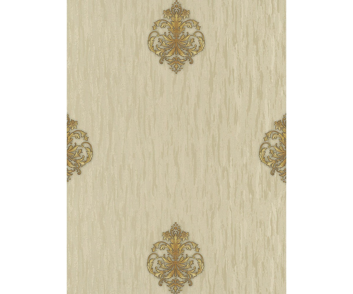 Ornated Floral Damask Motifs Gold 5783 30 Wallpaper Designer