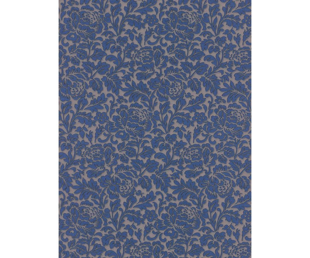 Classic Rose Floral Trail Blue 5784-44 Wallpaper