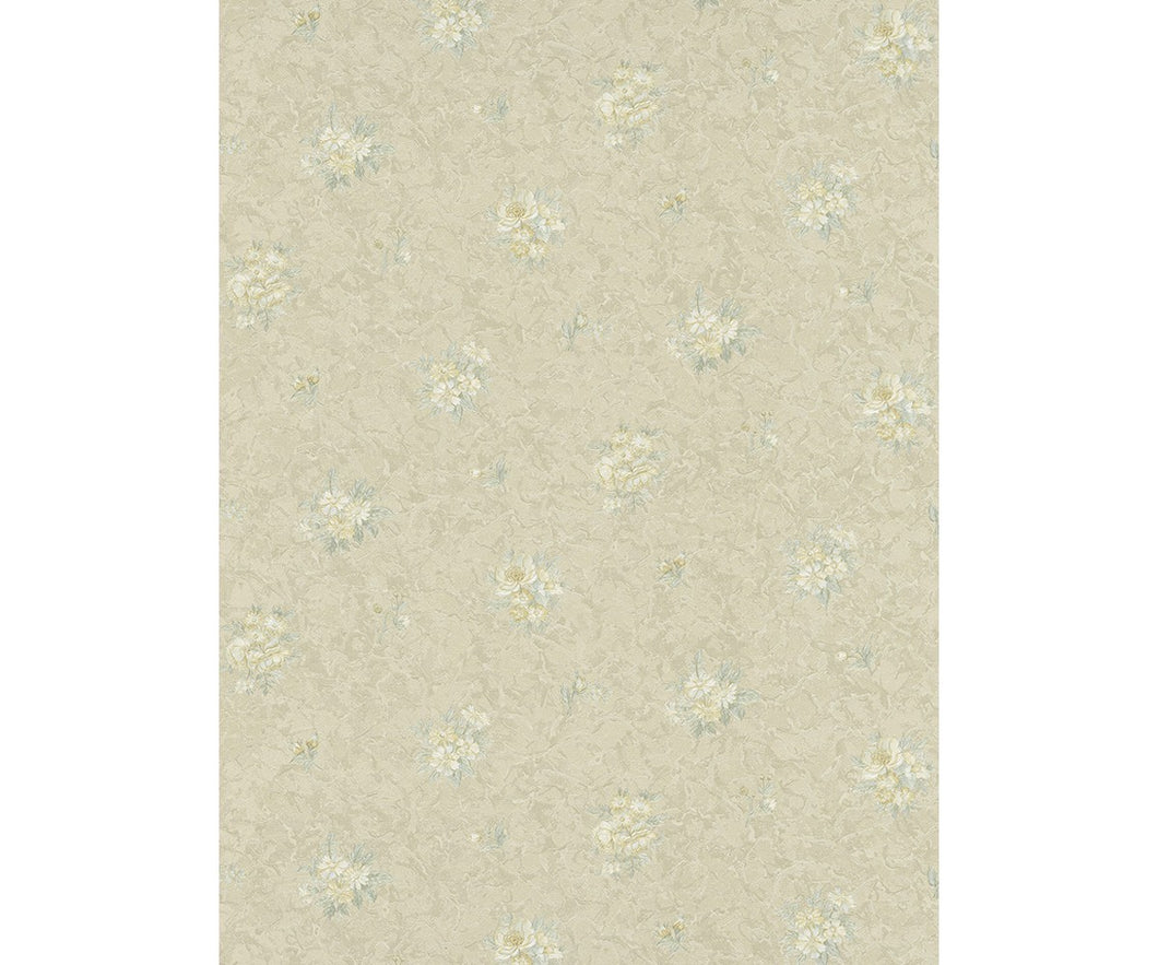Textured Floral Motifs Yellow Beige 5787-03 Wallpaper