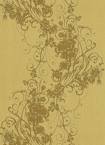 Ornated Floral Scroll Yellow Gold 5794-30 Wallpaper