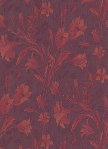 Tulip Floral Trail Red Violet 5796-09 Wallpaper
