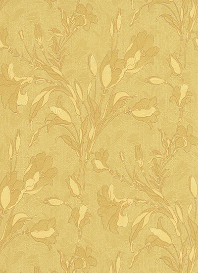 Tulip Floral Trail Yellow Gold 5796-30 Wallpaper