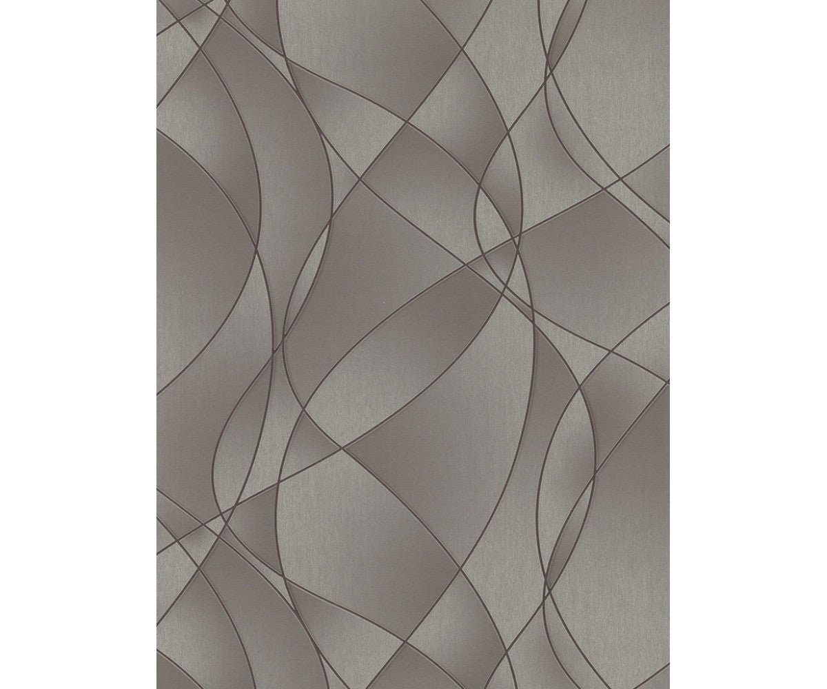 Graphics Swirls Taupe 5800-37 Wallpaper