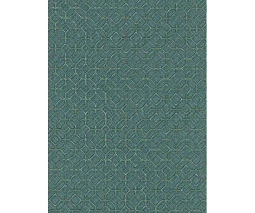 Graphics 3D Squares Teal 5808-18 Wallpaper