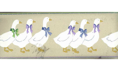 DUCK PARADE CUTE BOW DUCKS BT77709 Wallpaper Border