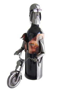 Motorcycle Rider Wine Bottle Holder