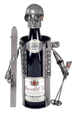 Skier Wine Bottle Holder