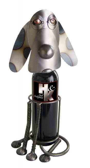 Sitting Dog Wine Bottle Holder