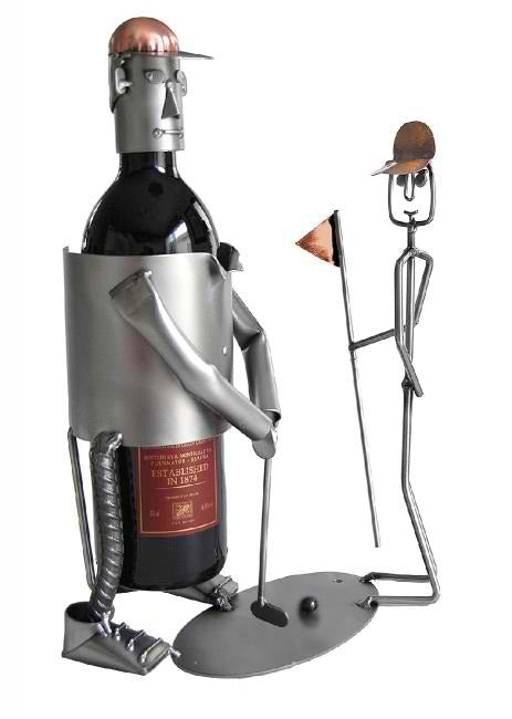 Golfer Putting Wine Bottle Holder