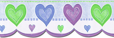 Kids Hearts TW38026DB Wallpaper Border