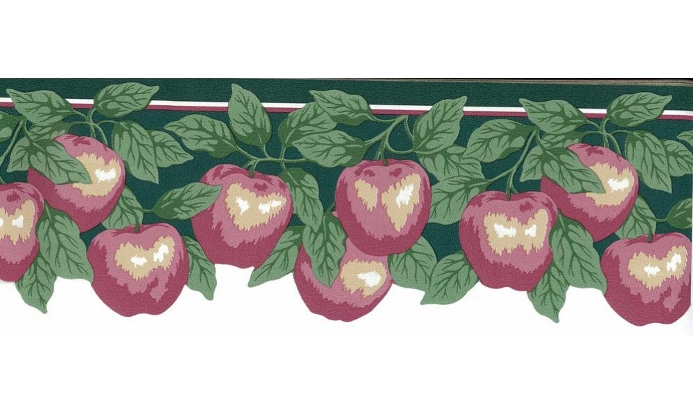 Pink Apples 147908 Wallpaper Border