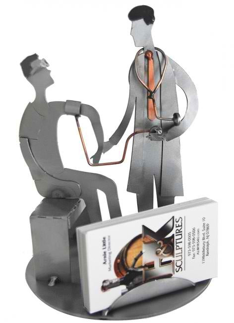 Doctor With Patient Business Card Holder