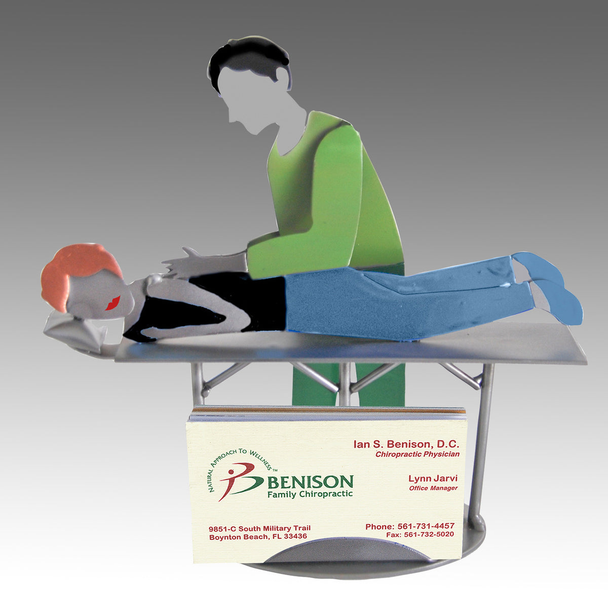 Chiropractor Masseuse Business Card Holder