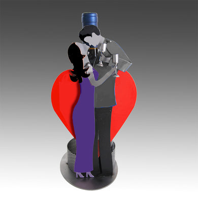 Toasting Lovers Modern Wine Bottle Holder