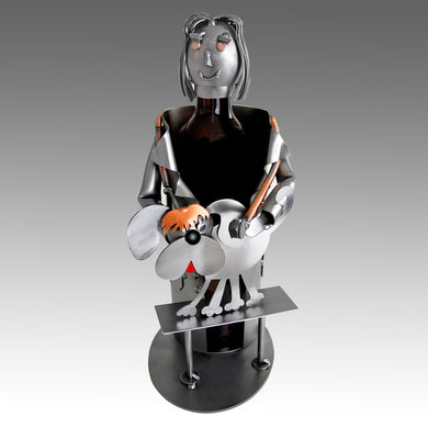 Veterinarian Female Wine Bottle Holder