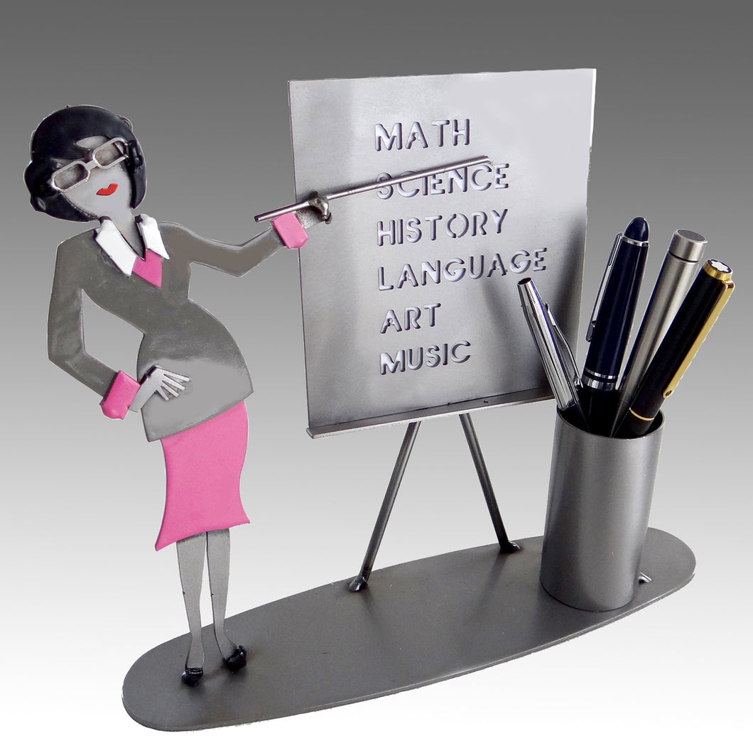 Teacher Female Pen Holder