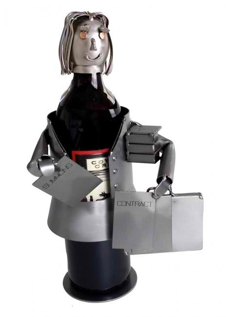 Attorney Female Wine Bottle Holder