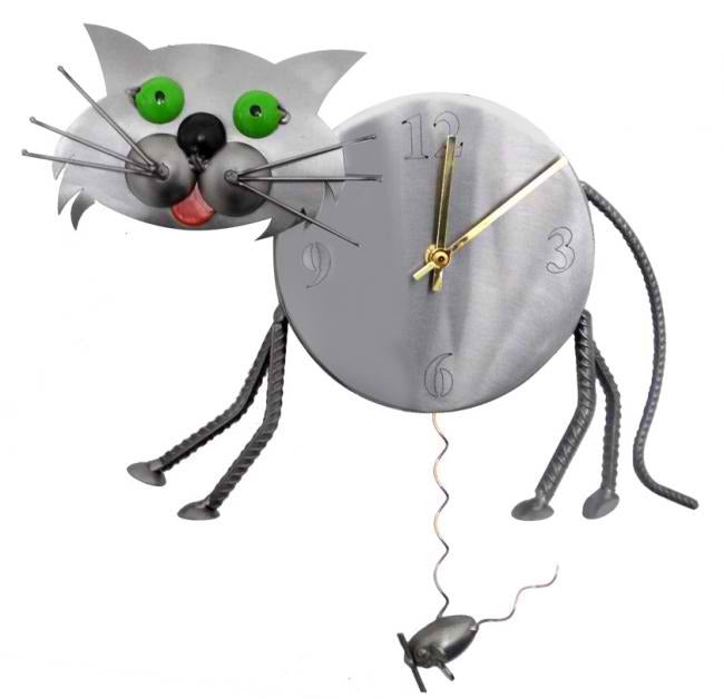 Green Eyed Cat Wall Clock