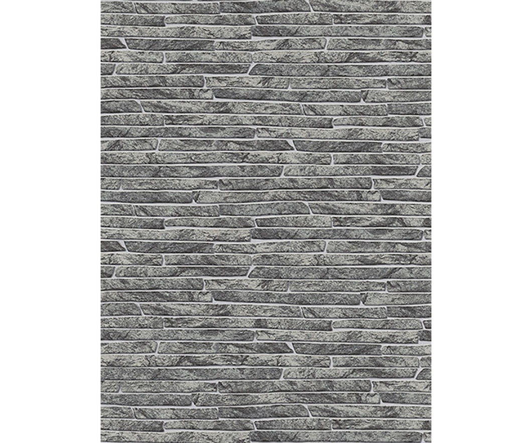Stone Wall Textured Black 6828-10 Wallpaper