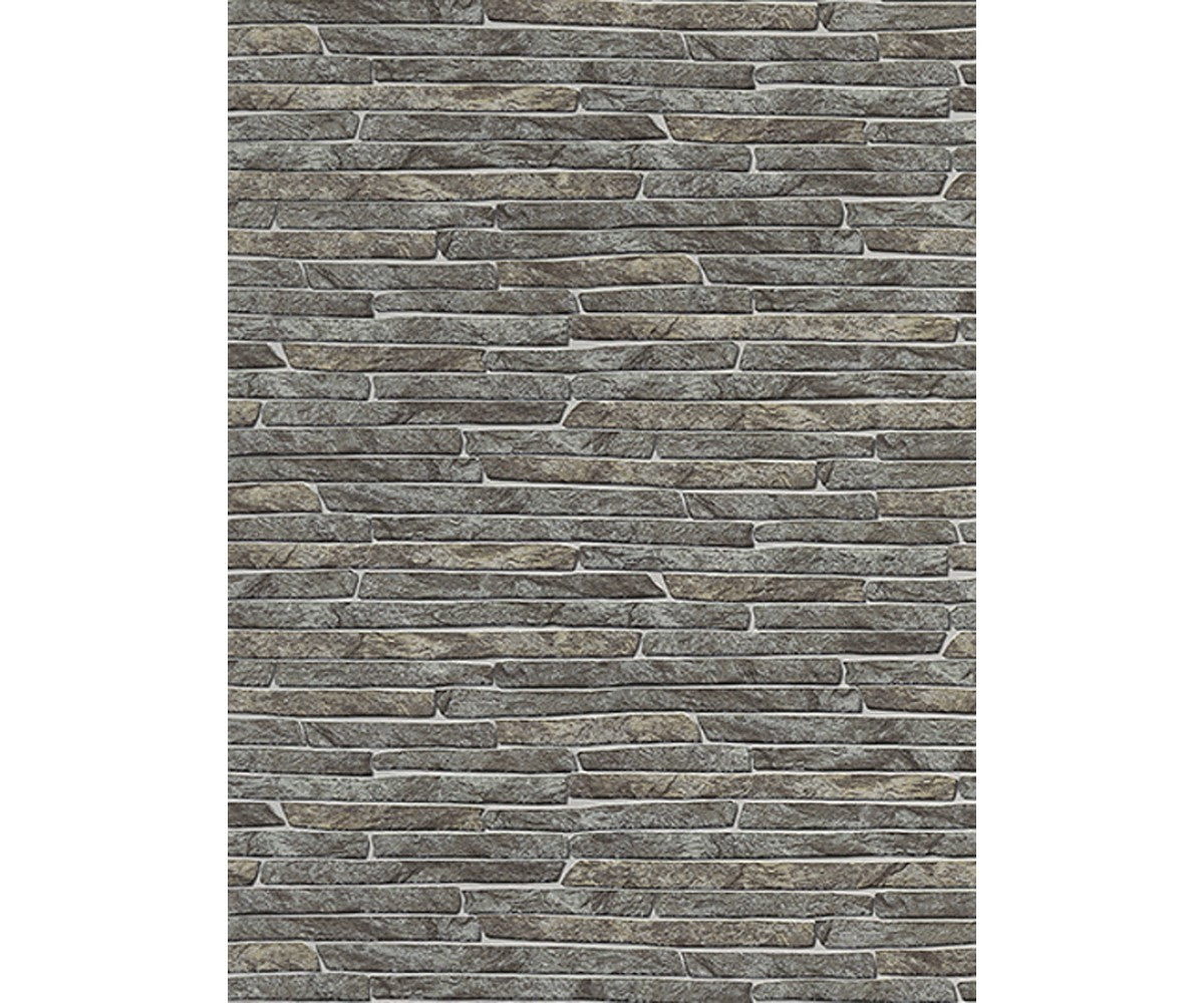 Stone Wall Textured Brown 6828-11 Wallpaper