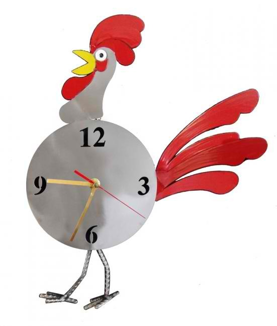 Cock-A-Doodle Rooster Wall Clock