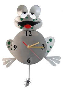Sleepy Frog Wall Clock
