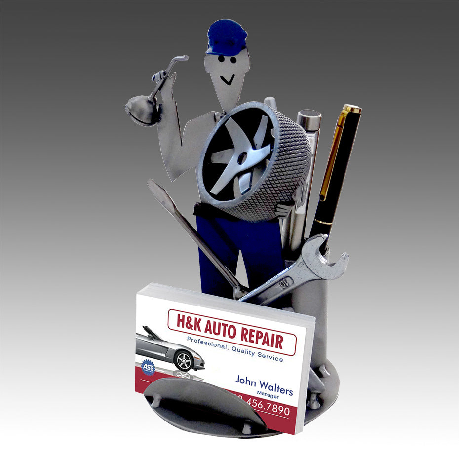 Auto Mechanic Business Card Holder