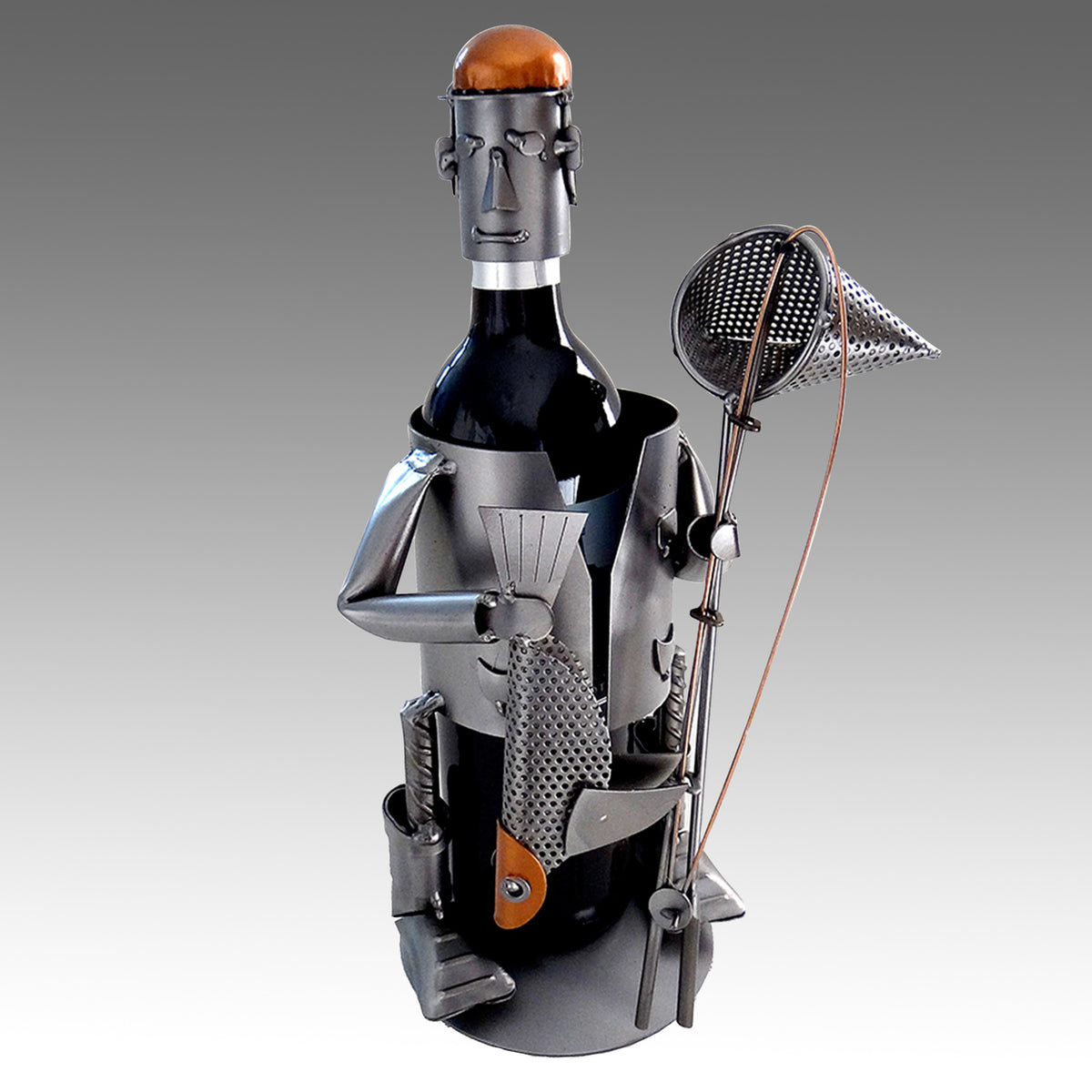 Fisherman With Catch of the Day Wine Bottle Holder