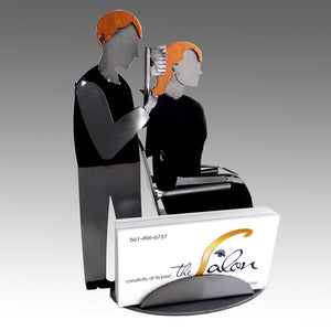 Hairstylist Male Business Card Holder