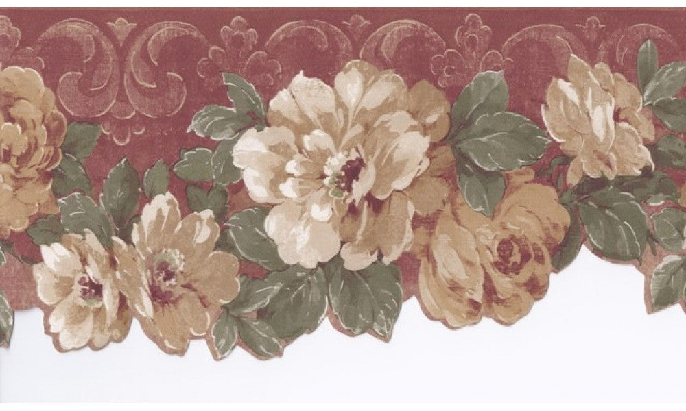 Bordo Cream Wild Roses CN76739 Wallpaper Border