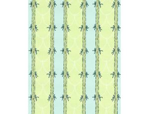 Beads Stripes Green Turquoise 7305-07 Wallpaper