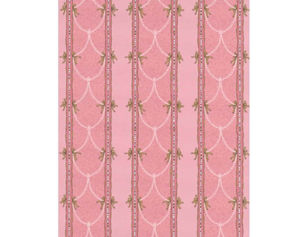 Beads Stripes Pink 7305-50 Wallpaper