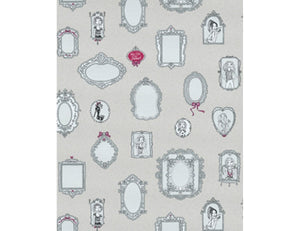 Mirror Frames Grey Pink 7307-10 Wallpaper