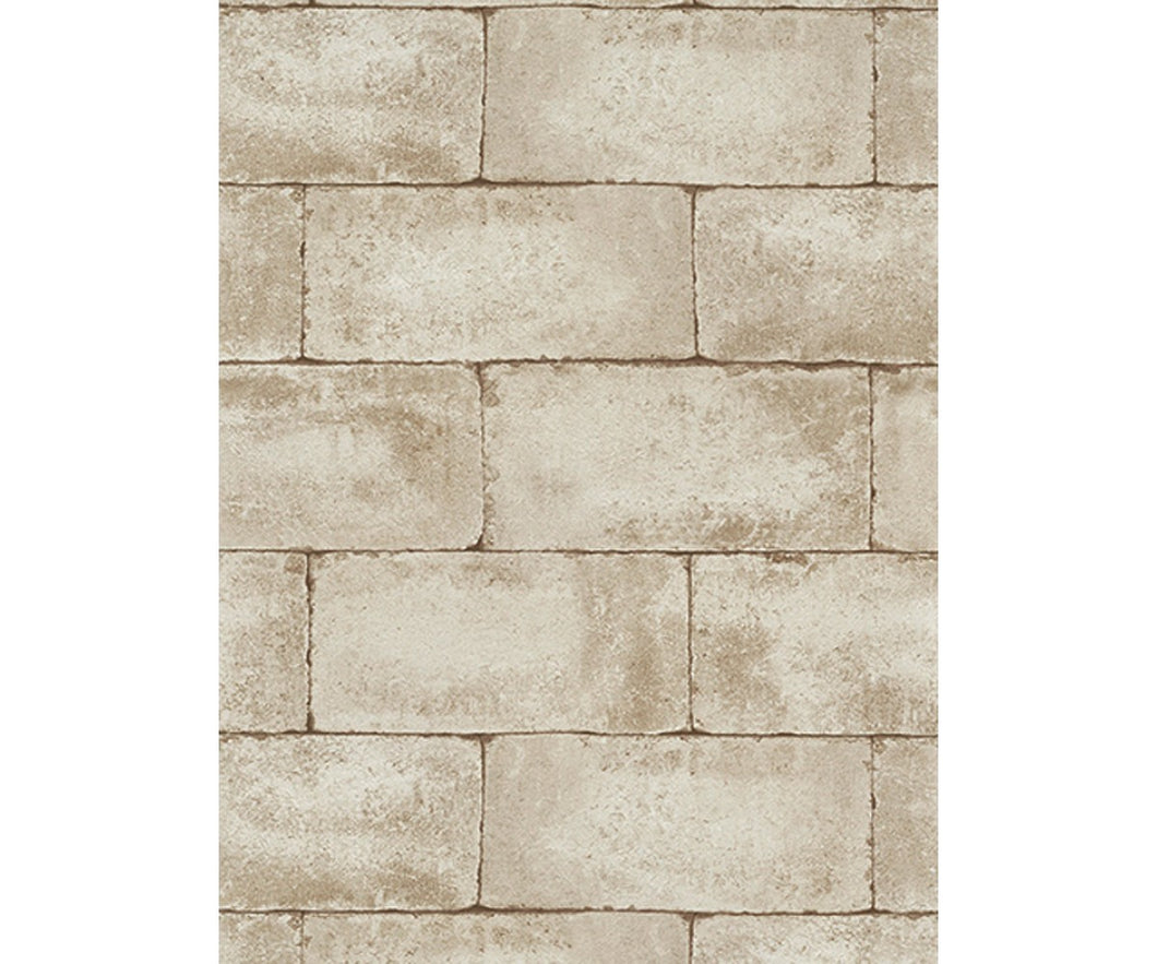 Blocks Structured Beige 7320-02 Wallpaper