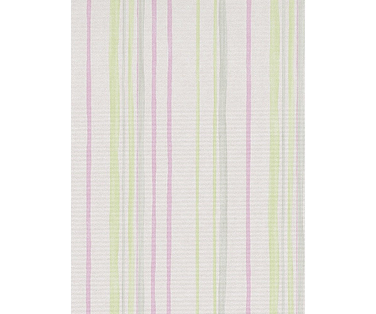 Pastel Stripes Green Grey Pink 7323-06 Wallpaper