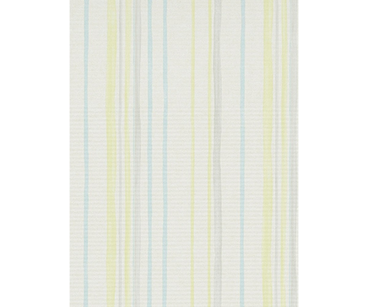 Pastel Stripes Yellow Blue Grey 7323-08 Wallpaper
