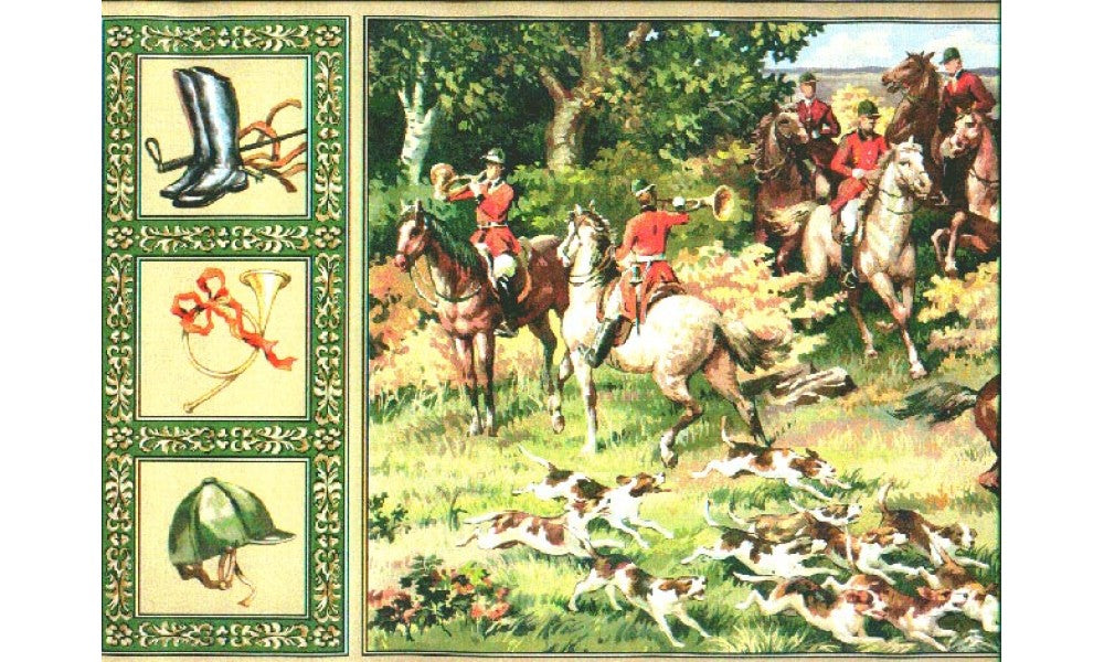 Horses and Dogs b72091 Wallpaper Border