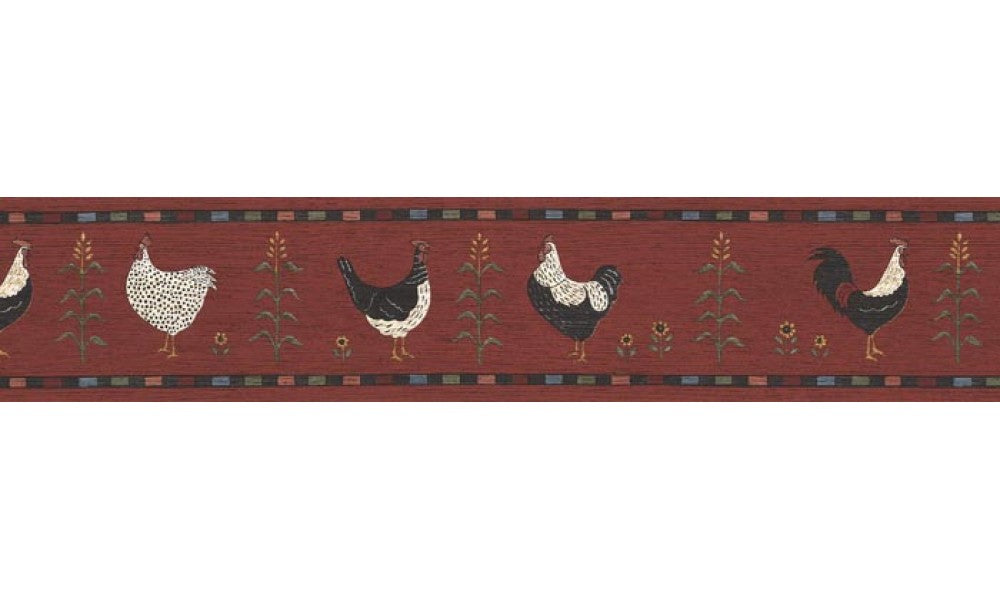 Roosters B75690 Wallpaper Border