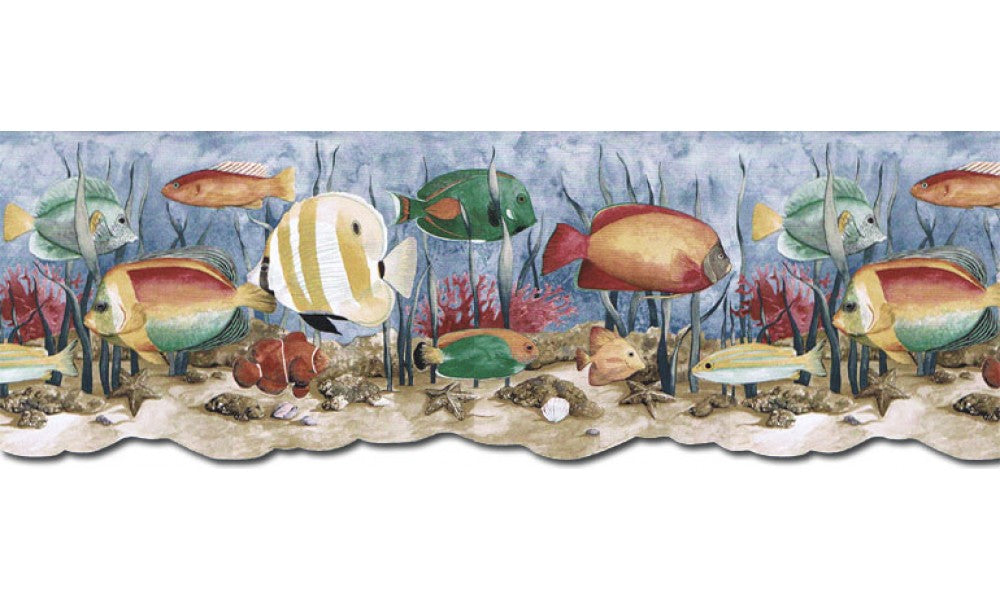 Acquarium PB58035DB Wallpaper Border