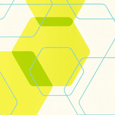 Graphic Hexagonal Prints Yellow Blue 880710 Wallpaper