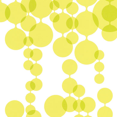 Linked Bubbles Yellow 881014 Wallpaper