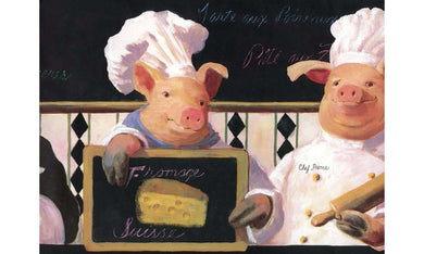 Piggy Restaurant KH5802 Wallpaper Border